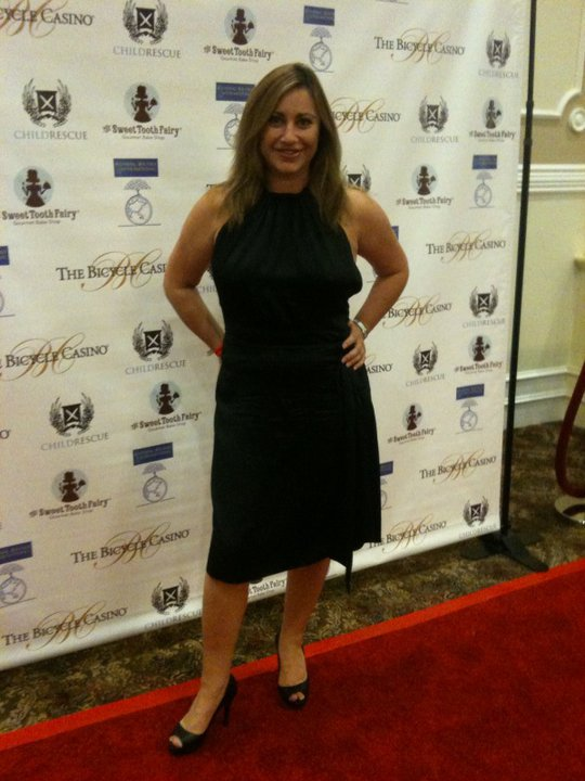 Charity Celebrity Poker Tournament in aid of Child Rescue Sumner Redstone CEO ViacomLiz Rodriguez EMRmedia